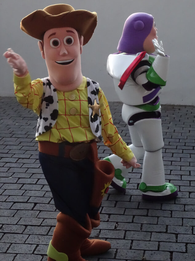Buzz Lightyear and Woody at the Kings' Day Parade in San Miguel Tenerife