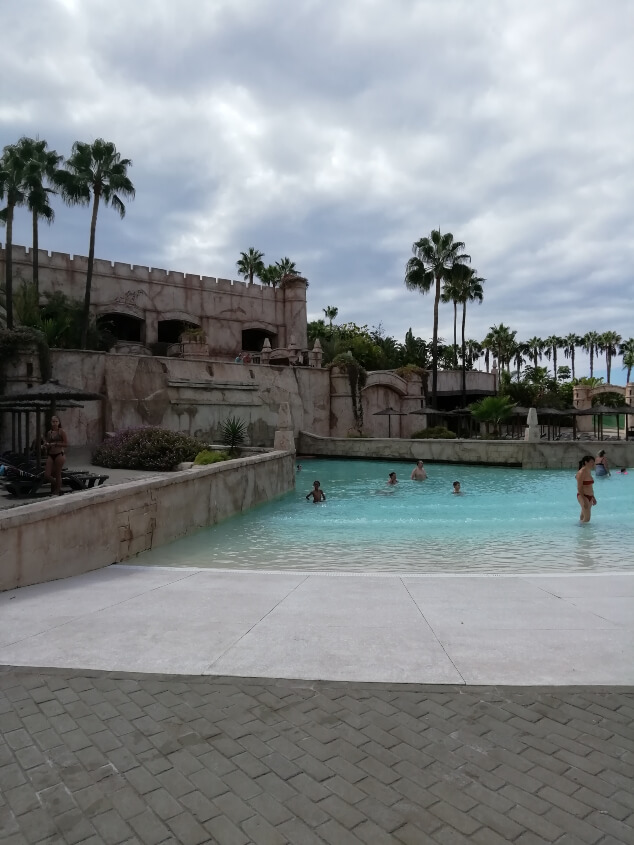 A small swimming pool at Aqualand in Tenerife
