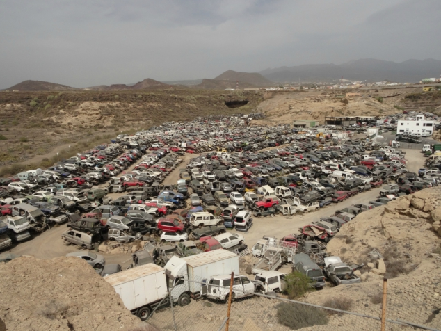 Hundreds of poor, abandoned cars at the Car Graveyard, Tenerife