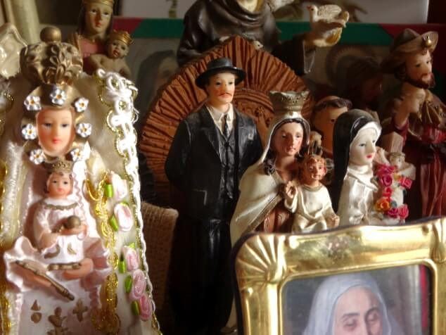 A collection of statues inside Cave of Santo Hermano Pedro